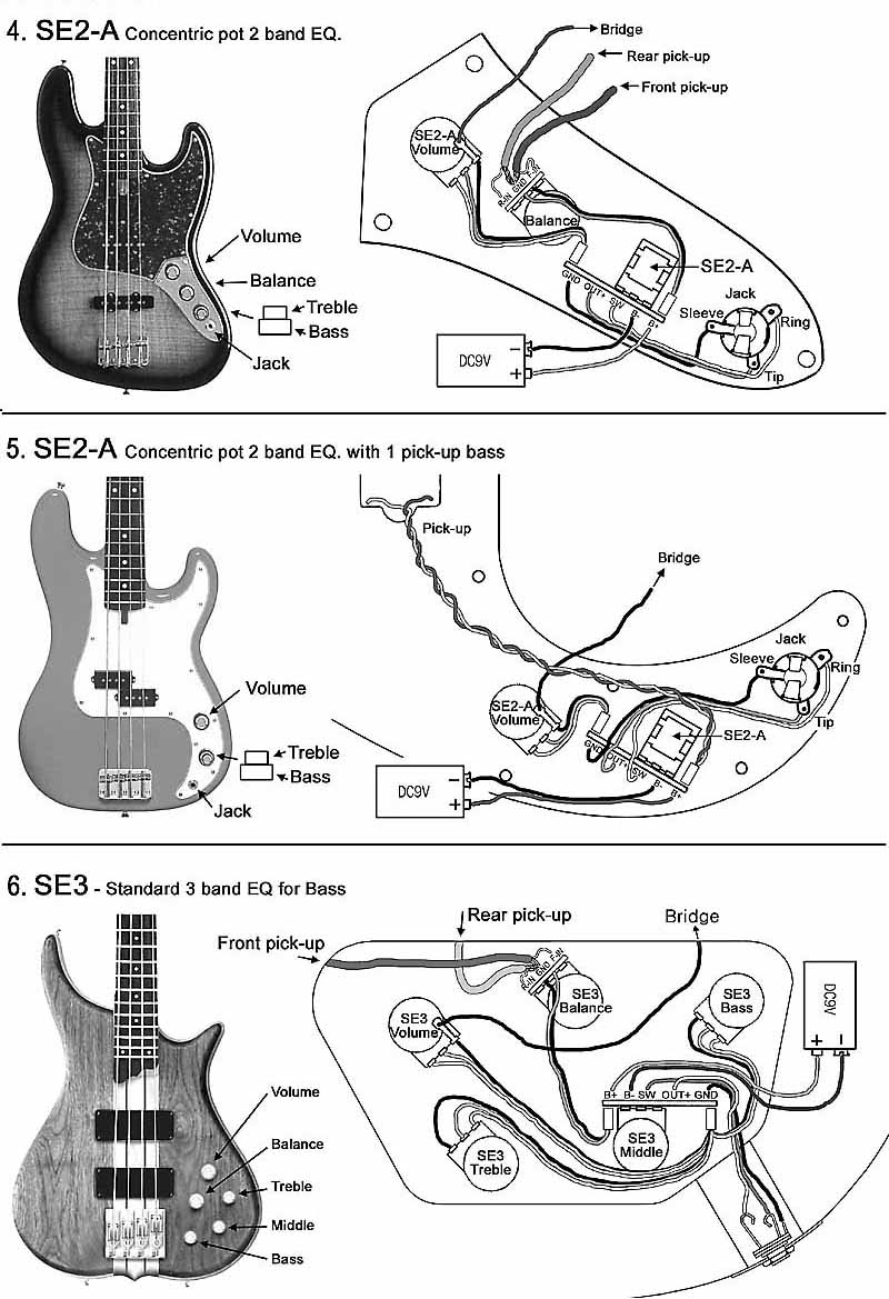about artec se3 2 pickups bass